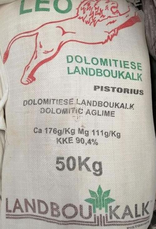 Agricultural Lime dolomitic, natural Calcium & magnesium reduces acidity