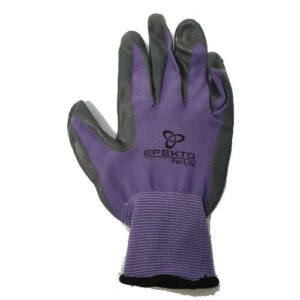 Gloves, rubber and knitted, large