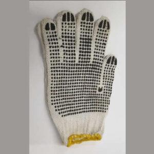 polka dot gloves, knitted
